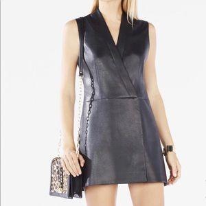 BCBGMAXAZRIA Caryn faux leather dress ⭐️